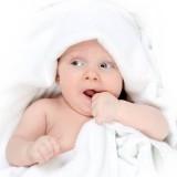 Tot under towel